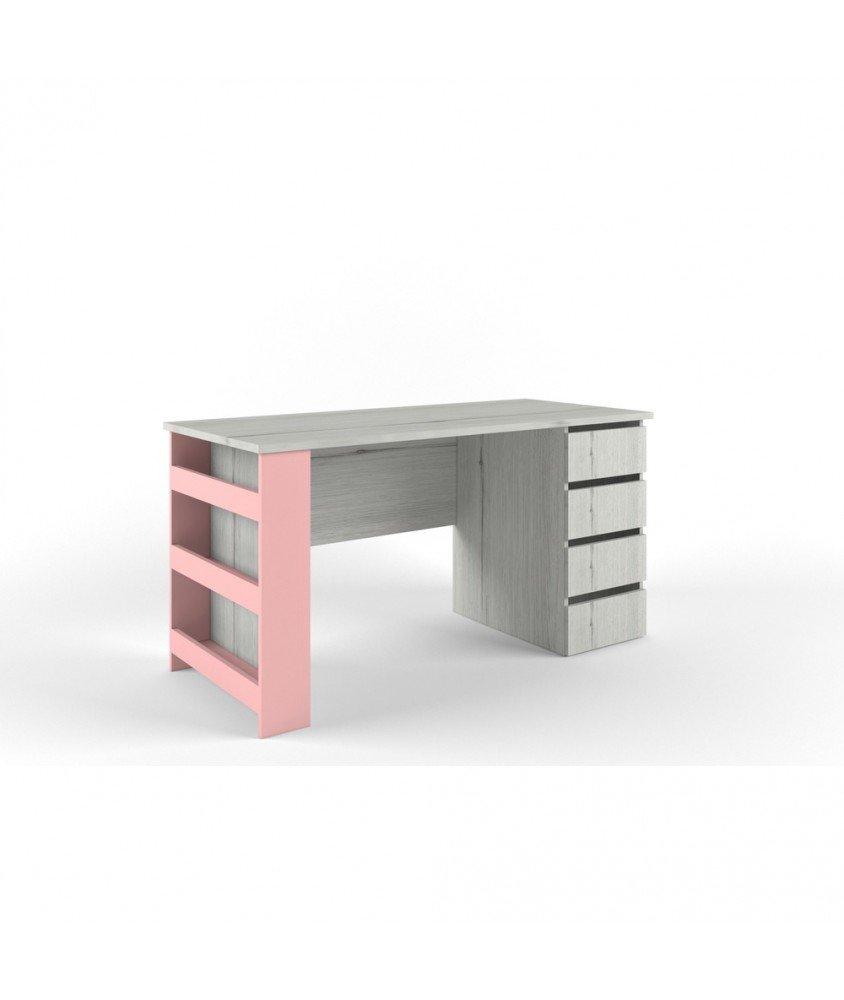 НЬЮ ТОН -  Стол с тумбой розовый